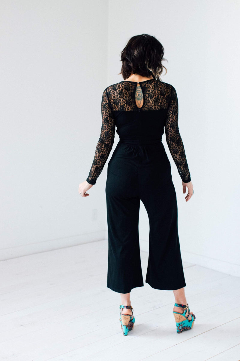 Lots of Lace Jumpsuit - FINAL SALE - Tara Lynn's Boutique