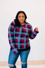 Perfectly Plaid Top- FINAL SALE