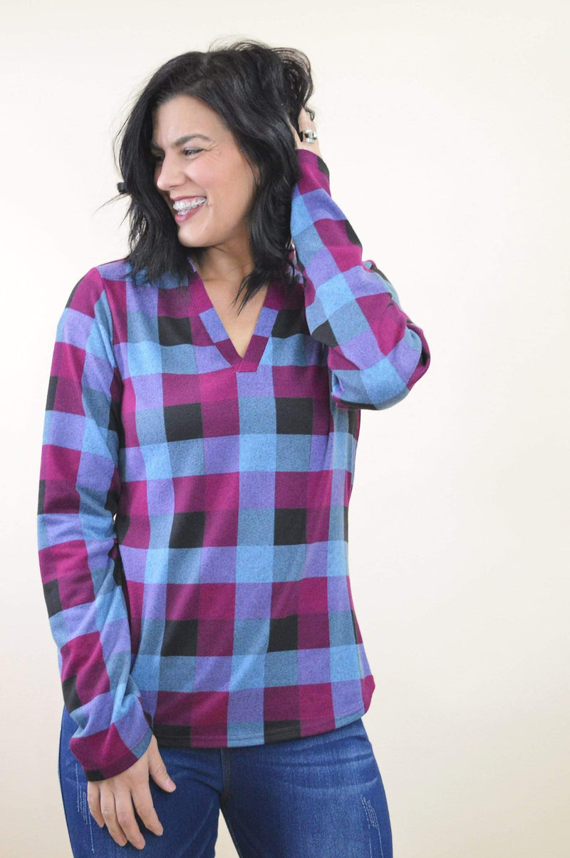 Perfectly Plaid Top - Tara Lynn's Boutique