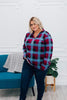 Hazel Blues Perfectly Plaid Top- FINAL SALE