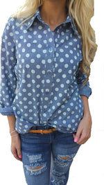 Polka Dot Chambray - FINAL SALE - Tara Lynn's Boutique