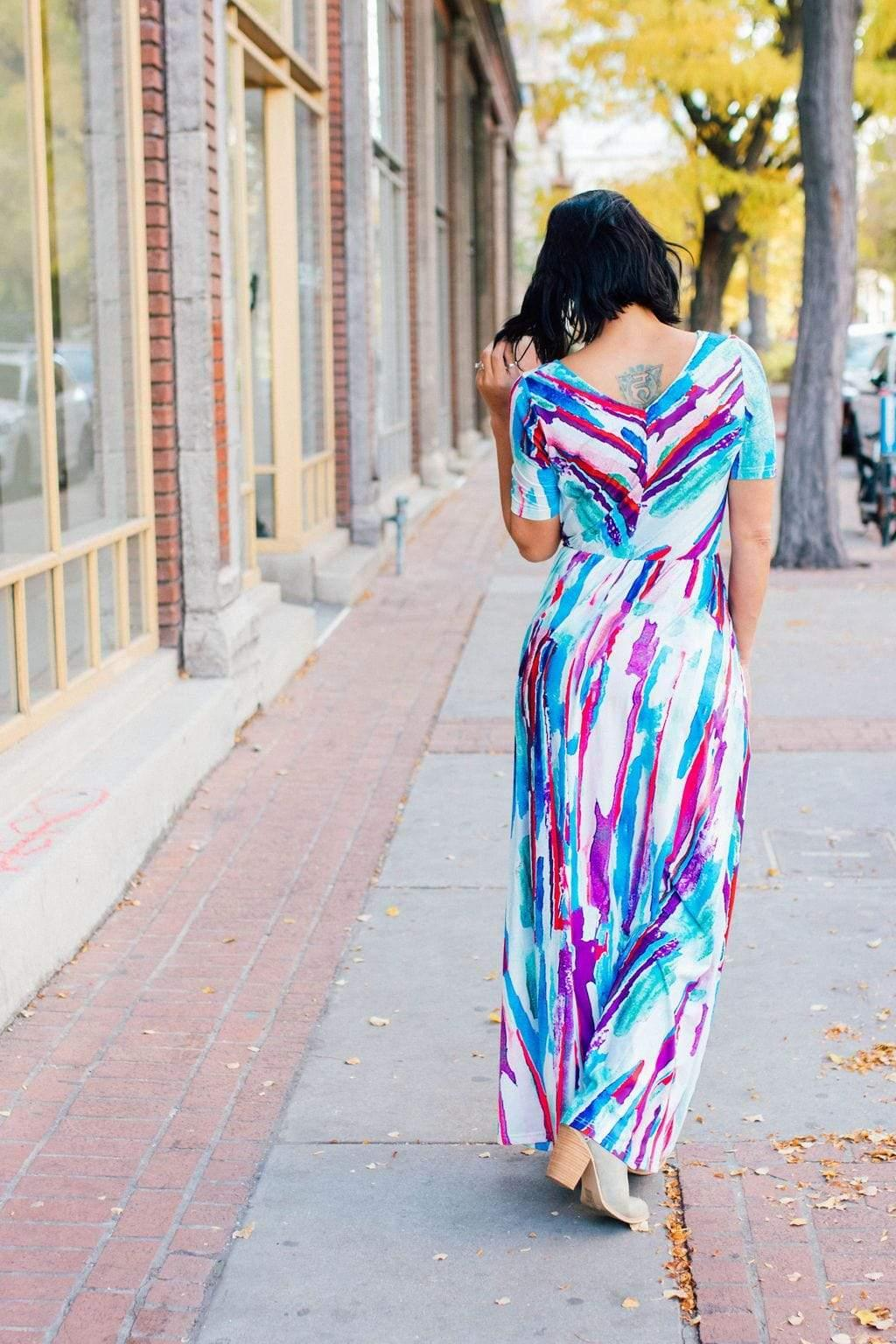 Watercolor Maxi - FINAL SALE - Tara Lynn's Boutique