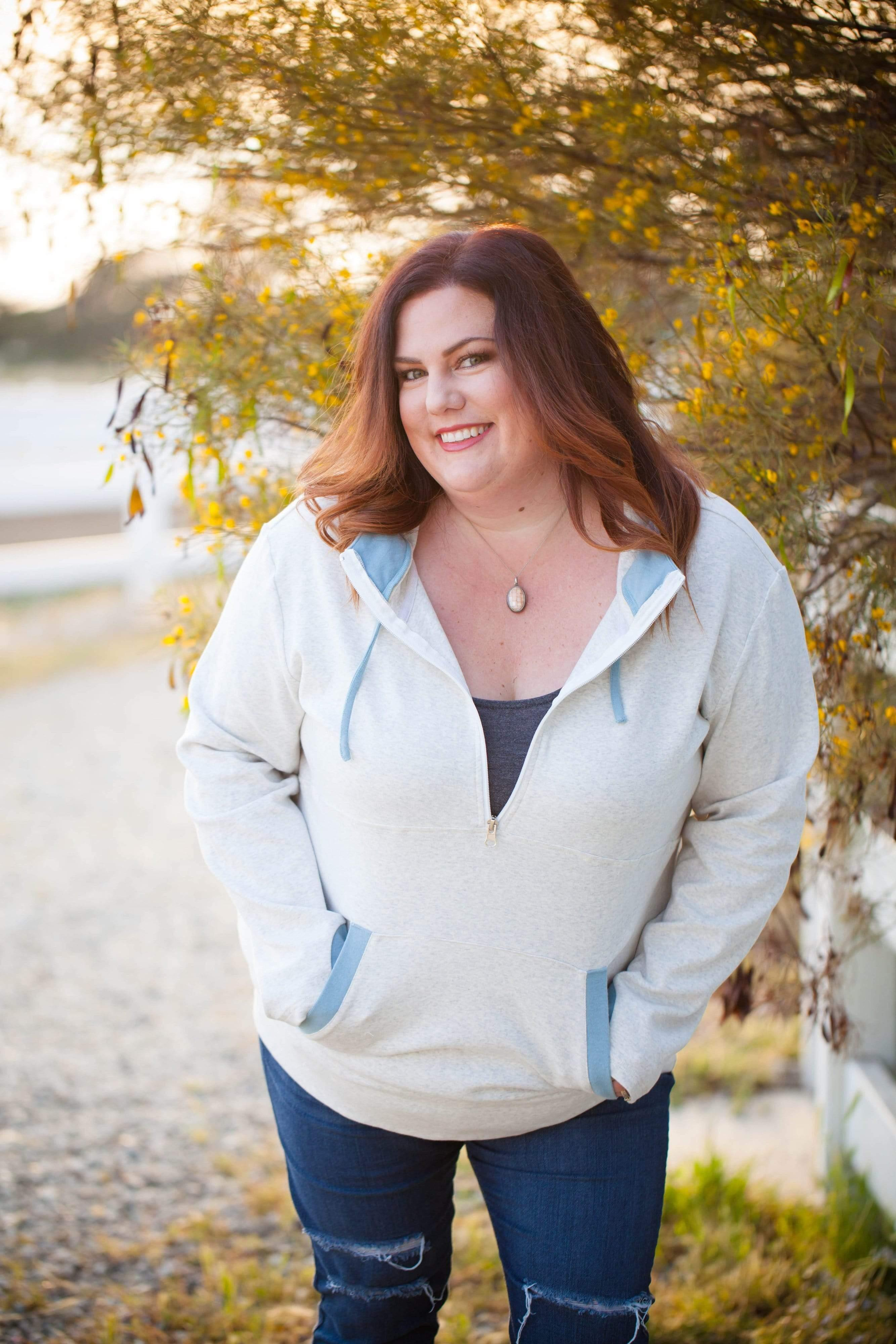 ZipCowl Hoodie: Heathered Gray - FINAL SALE - Tara Lynn's Boutique
