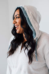 ZipCowl Hoodie: Heathered Gray - Tara Lynn's Boutique