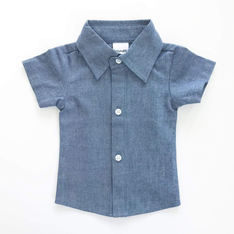 Button Up Chambray Shirt - FINAL SALE - Tara Lynn's Boutique