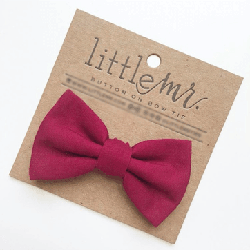 CRANBERRY BABY & TODDLER BOW TIE - FINAL SALE - Tara Lynn's Boutique