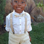 Boy's Khaki Suspenders - FINAL SALE - Tara Lynn's Boutique