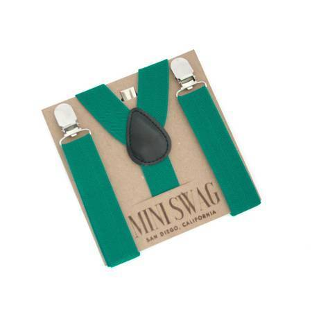 Boy's Teal Suspenders - FINAL SALE - Tara Lynn's Boutique
