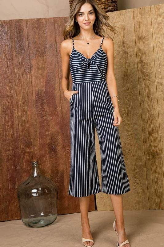Front Tie Jumpsuit - FINAL SALE - Tara Lynn's Boutique