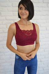 Lace Insert Bralette - FINAL SALE - Tara Lynn's Boutique