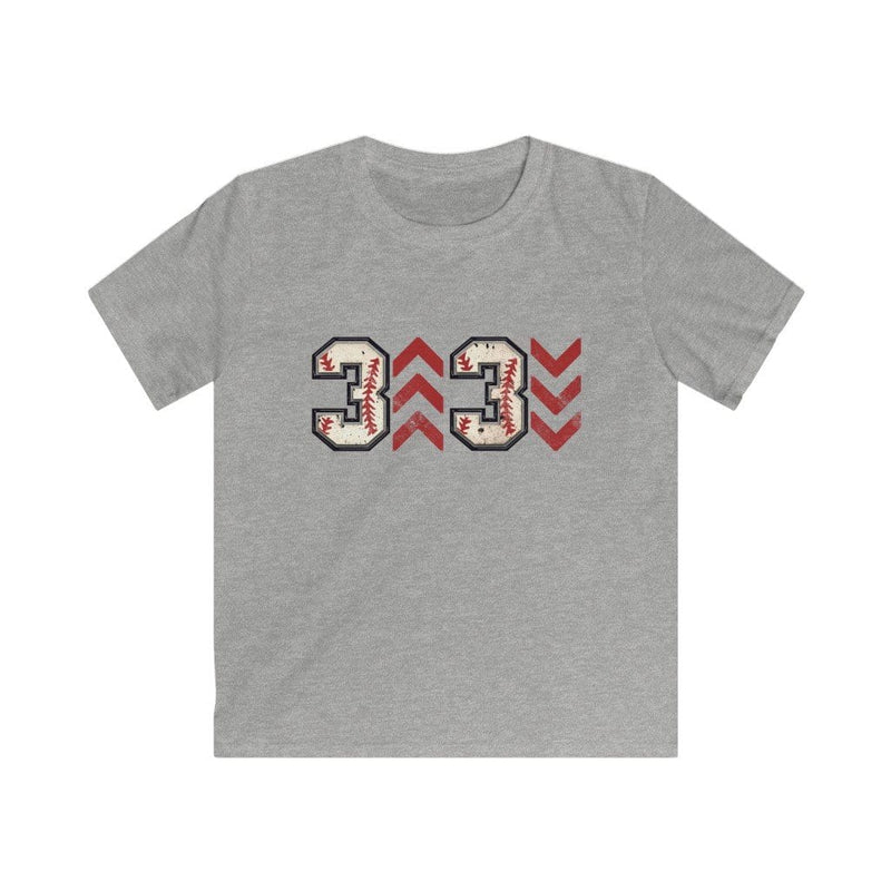 Printify Kids clothes XS / Sport Grey Kids 3 Up 3 Down Baseball Graphic Tee