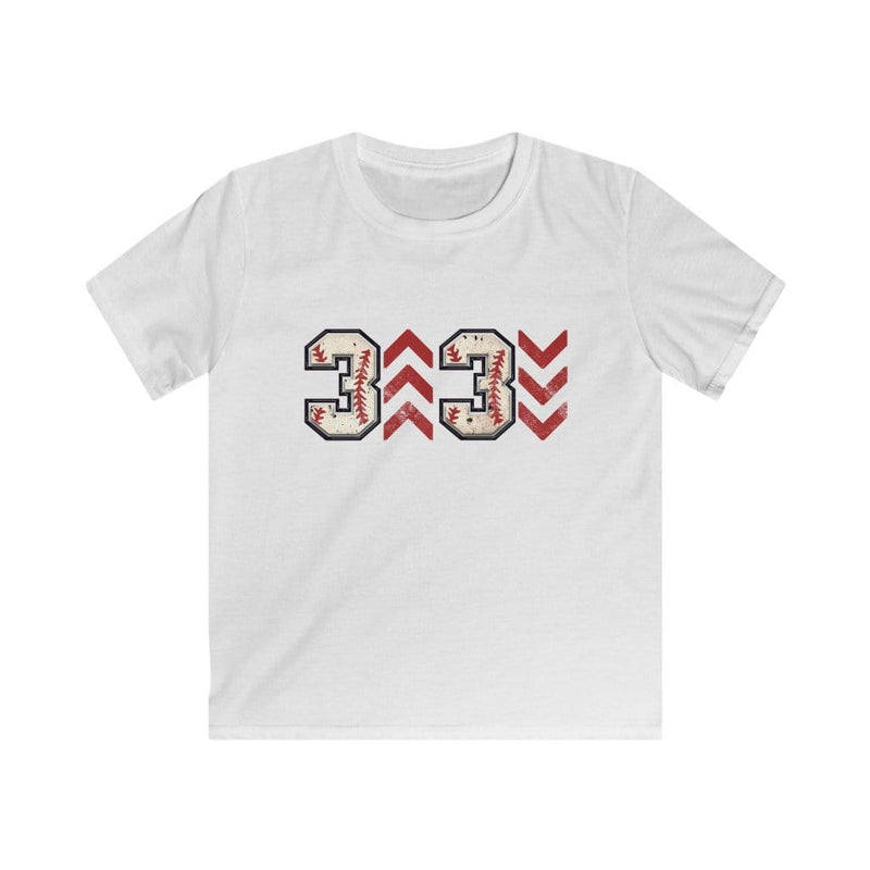 Printify Kids clothes XS / White Kids 3 Up 3 Down Baseball Graphic Tee