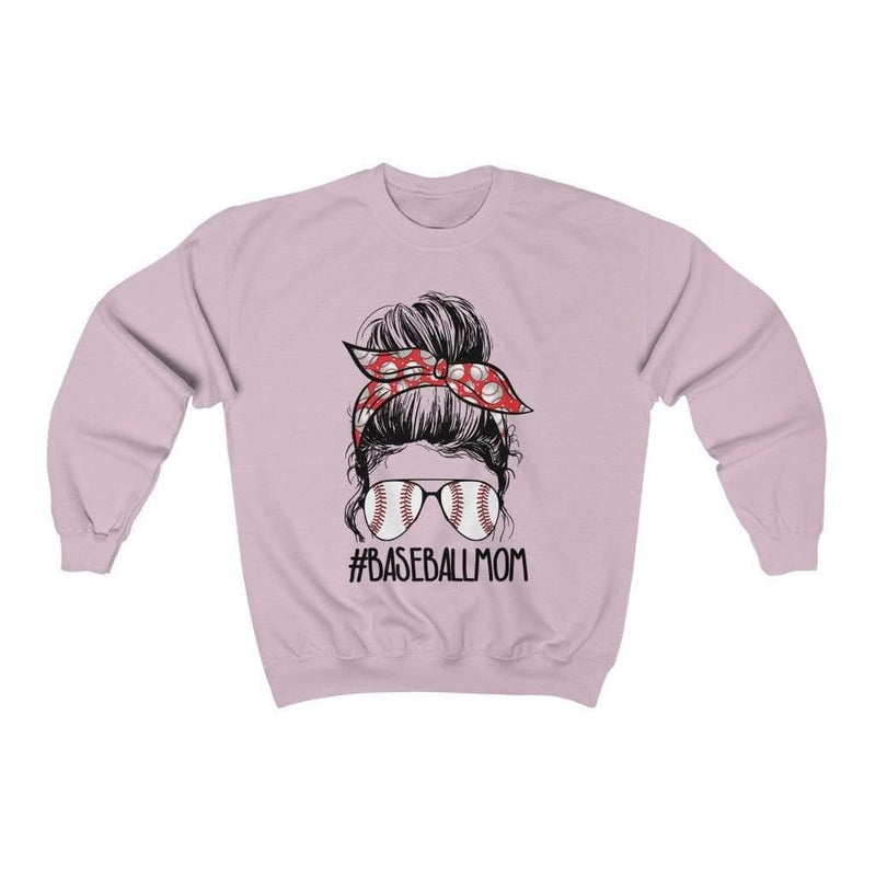 Printify Sweatshirt S / Light Pink Baseball Mom Graphic Sweatshirt