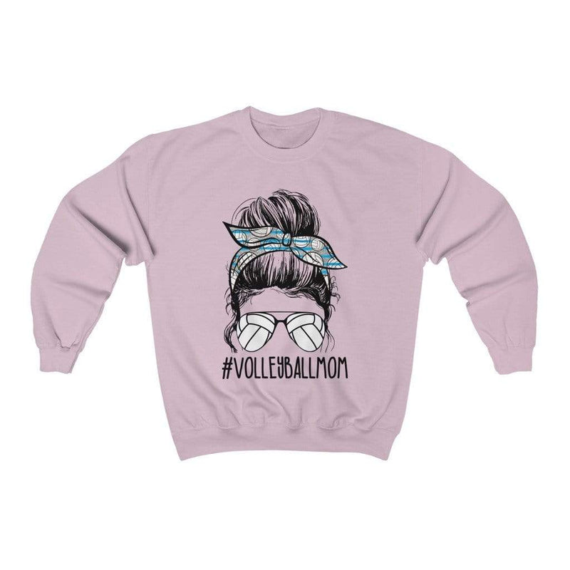 Printify Sweatshirt S / Light Pink Volleyball Mom Graphic Sweatshirt