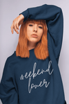 Printify Sweatshirt Weekend Lover Crew Graphic Sweatshirt