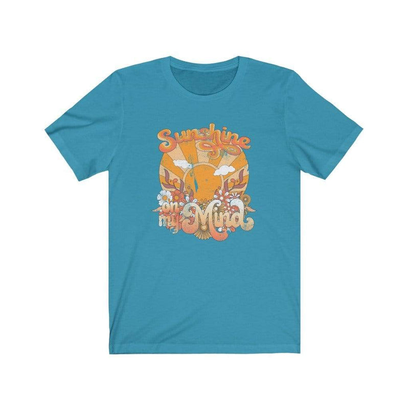 Printify T-Shirt Aqua / L Sunshine On My Mind Graphic Tee