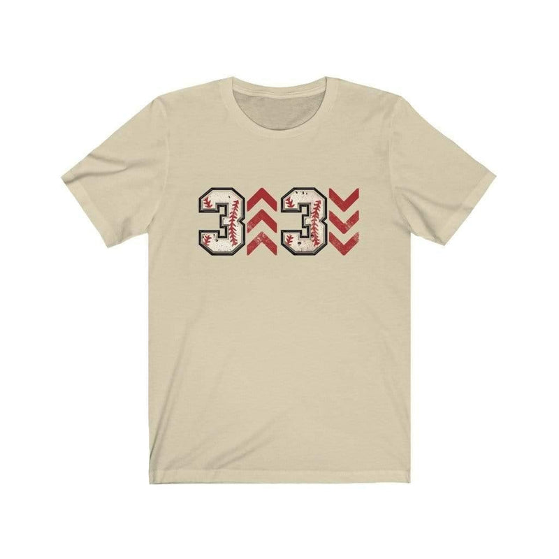 Printify T-Shirt Natural / XS 3 Up 3 Down Adult Graphic Tee