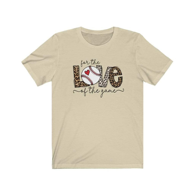 Printify T-Shirt Natural / XS Love of the Game Baseball Graphic Tee