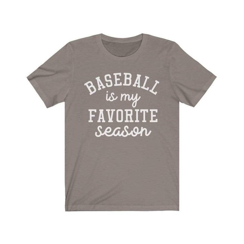 Printify T-Shirt Pebble Brown / XS Baseball Favorite Season Graphic Tee