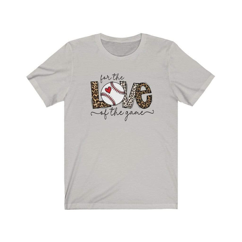 Printify T-Shirt Silver / L Love of the Game Baseball Graphic Tee