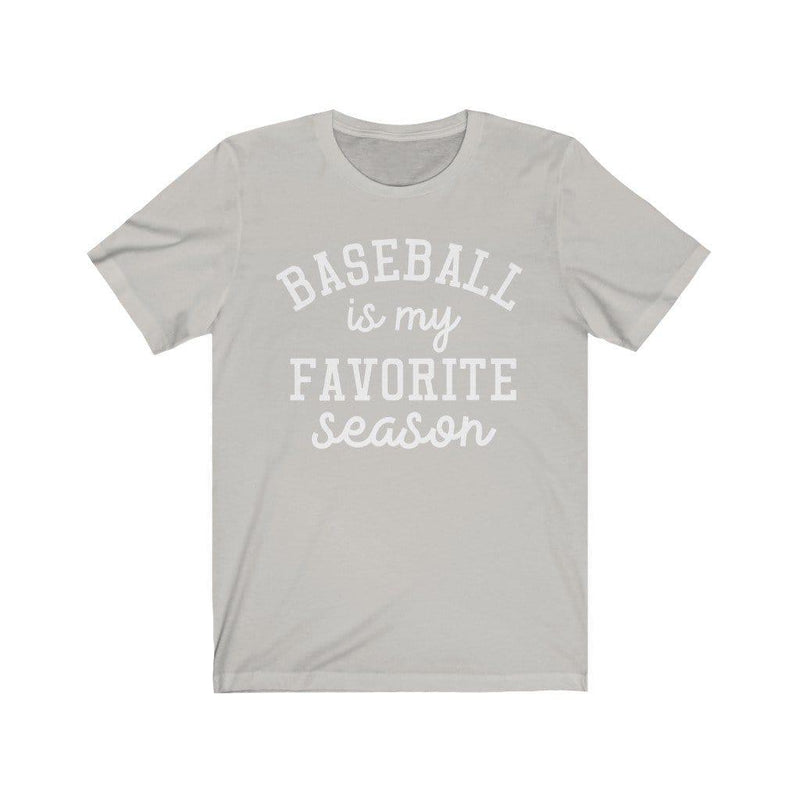 Printify T-Shirt Silver / XS Baseball Favorite Season Graphic Tee