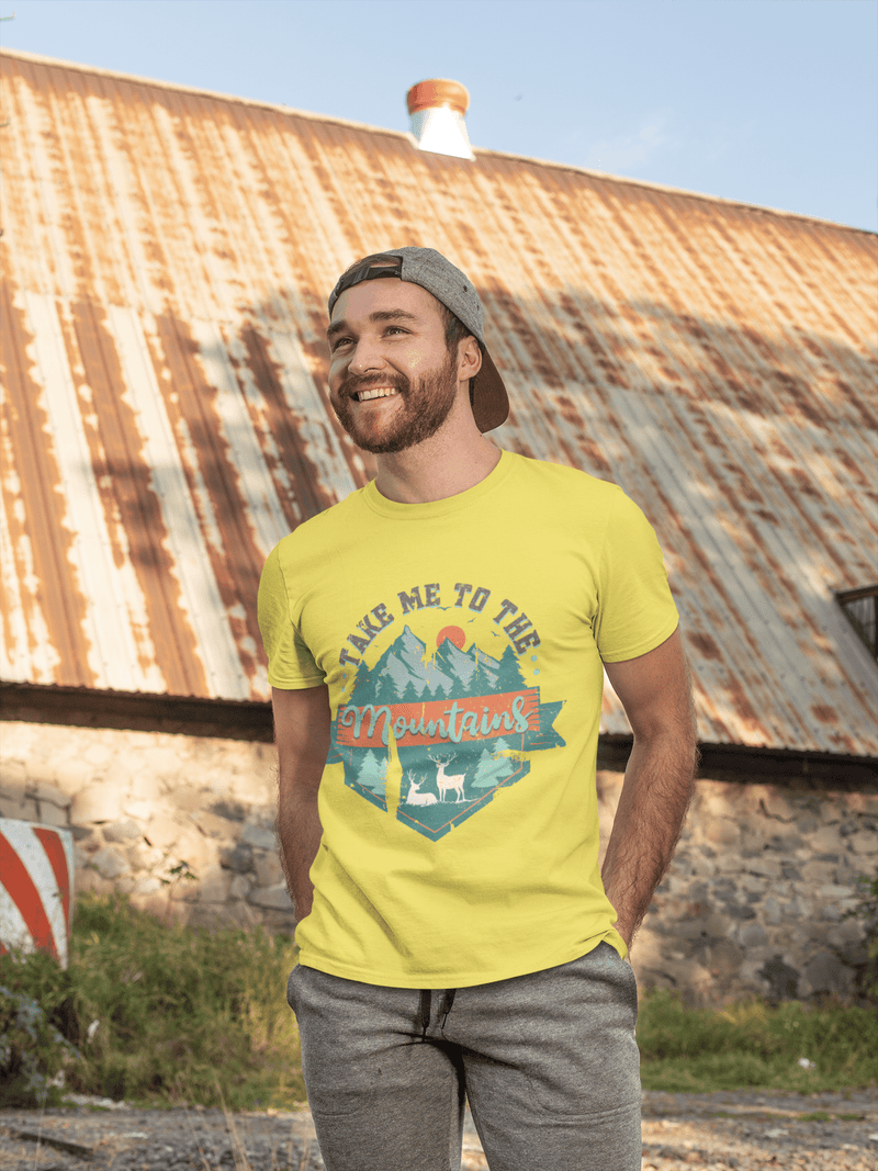 Printify T-Shirt Take Me To The Mountains Graphic Tee