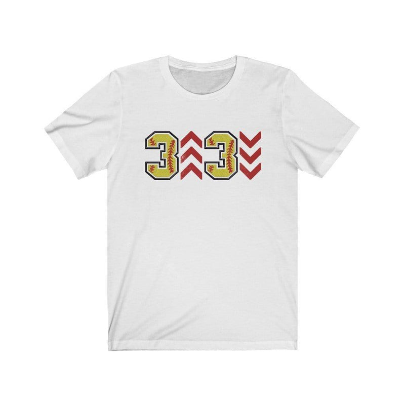 Printify Tops White / XS Adult: 3 Up 3 Down Softball Graphic Tee