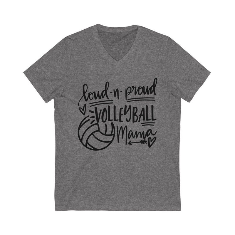 Printify V-neck Deep Heather / L Loud & Proud Volleyball Graphic V-Neck Tee