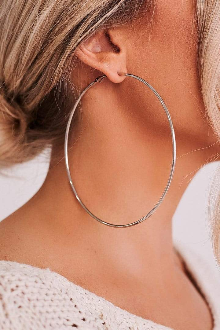 Tara Lynn's Jewelry Pretty Woman Silver Hoops
