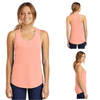 Tara Lynn's Tanks S / Heathered Dusty Peach Ladies Perfect Tri™ Racerback Tank Top