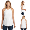 Tara Lynn's Tanks S / White Perfect Tri Rocker Tank Top