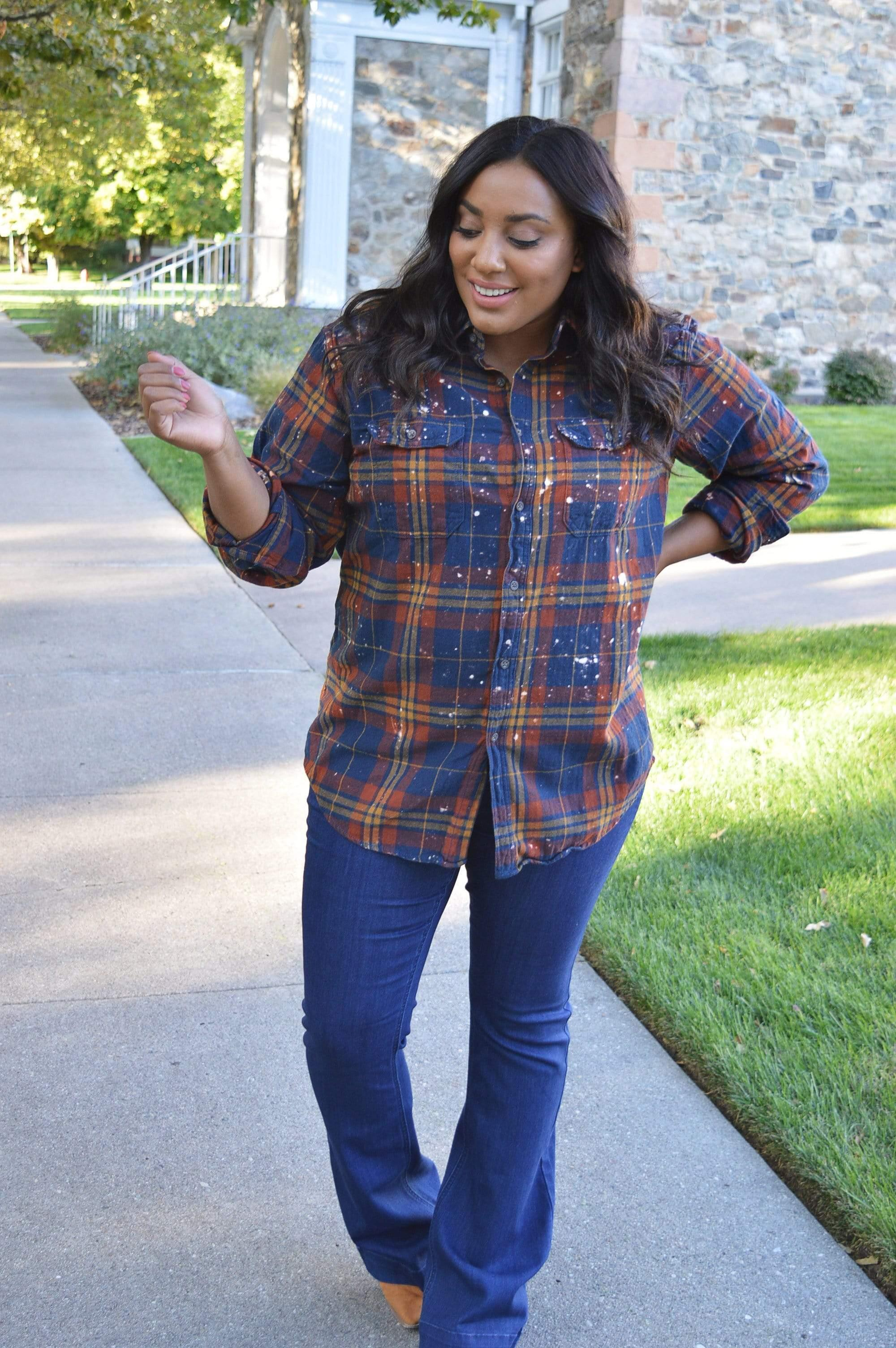 Distressed Flannels - Tara Lynn's Boutique