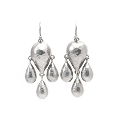 Silver Downpour Earrings