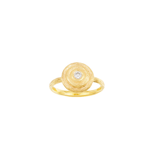 Round Swirl & Diamond Ring