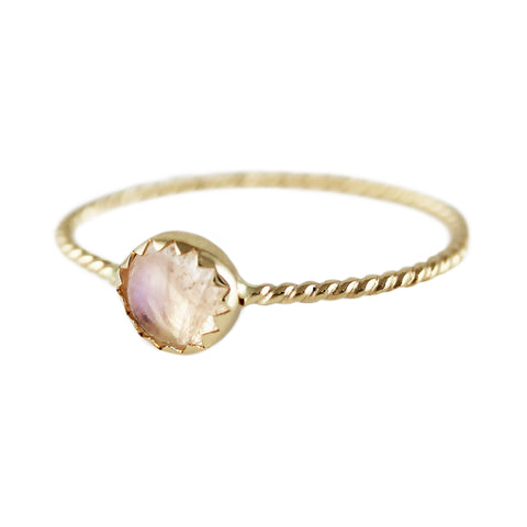 Golden Moonstone Ring