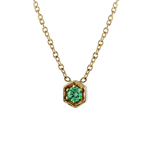 Emerald Hexagon Necklace