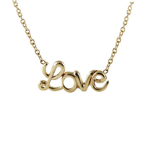 "Script ""LOVE"" Necklace"