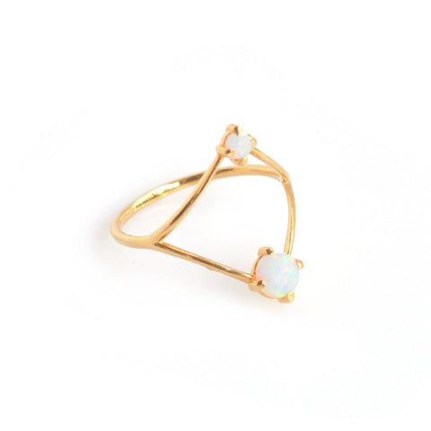 Opal Open Diamond Ring