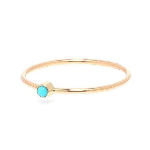 Turquoise Thin Band Ring