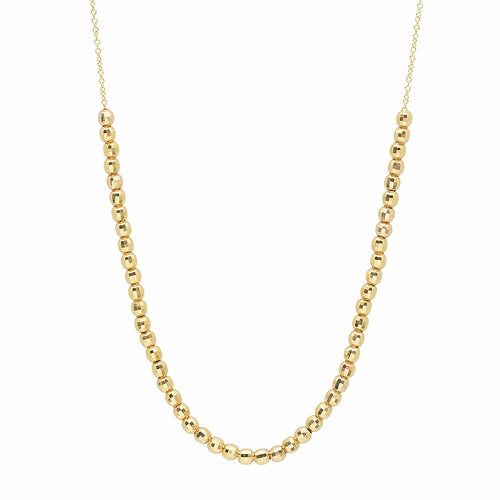50 Gold Ball Necklace
