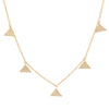 Pave Diamond Triangle Charm Necklace