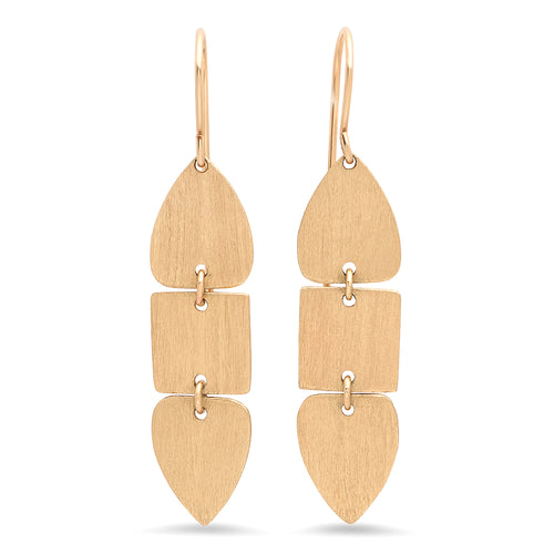 Geometric Triple Dangle Earrings