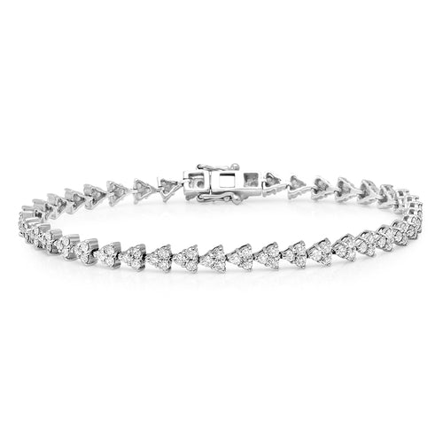 Diamond Triangles Tennis Bracelet