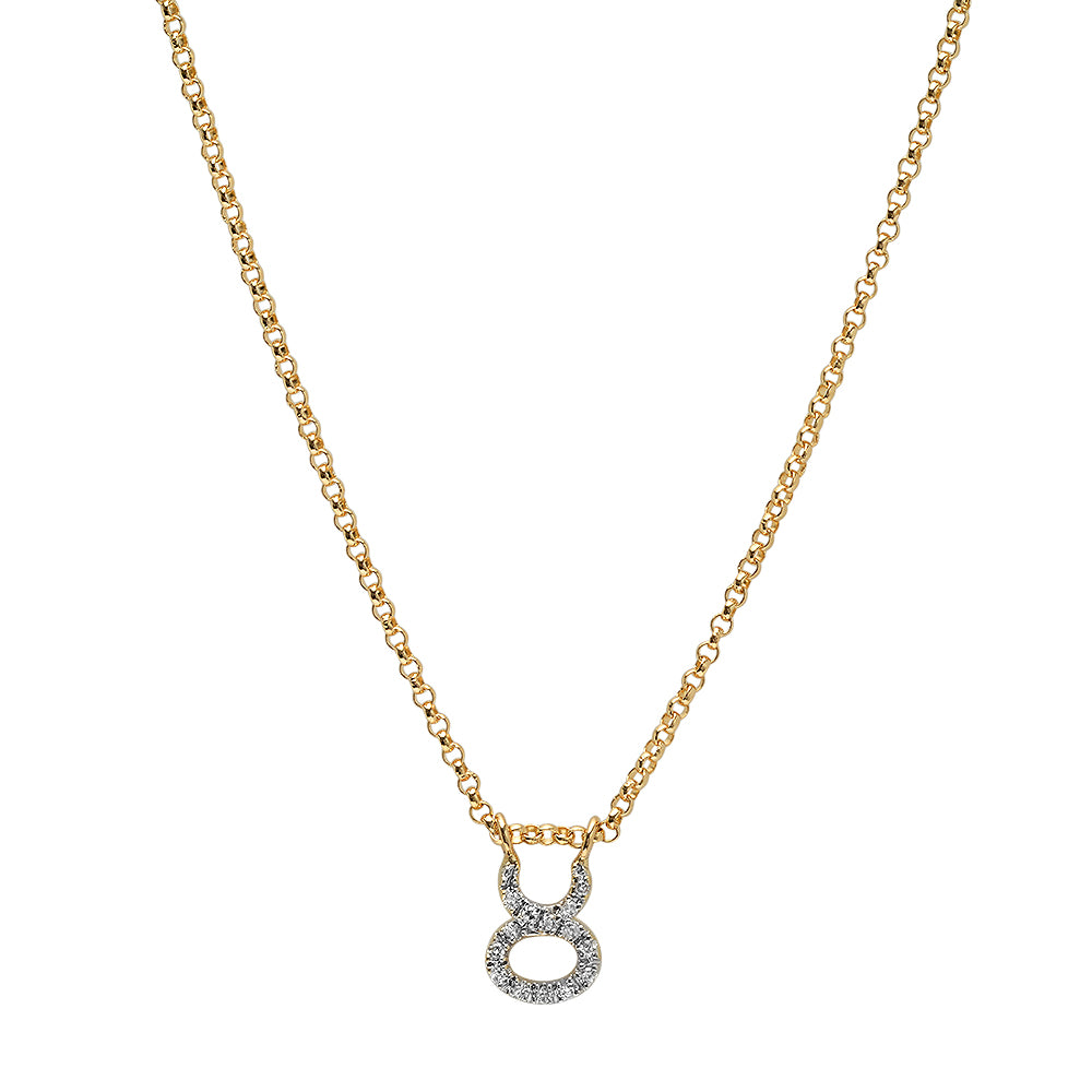 Pave Star Sign Necklace