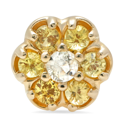 Single Yellow Flower Stud