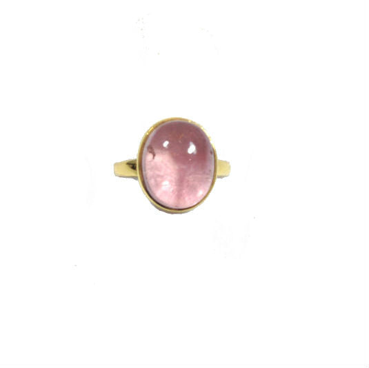 OVAL PALE PINK TOURMALINE RING