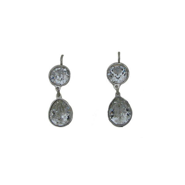 Pear and Round Paste Earring