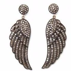 Angel Wing Pave Diamond Earring