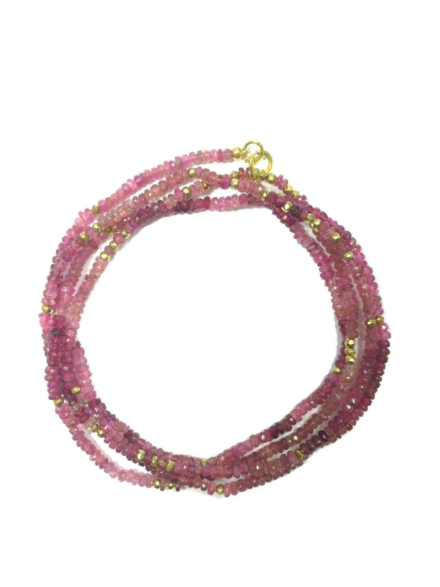 Pink Tourmaline Long Necklace