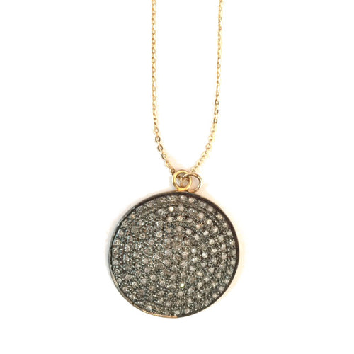 Pave Diamond Dome Necklace